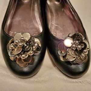 Calvin Klein Maxee Blk Leather Slip On EUC 7B